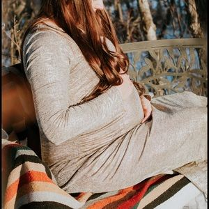 Golden maternity gown